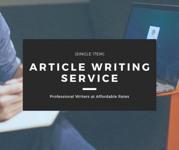 Article Writing Service - Single Item