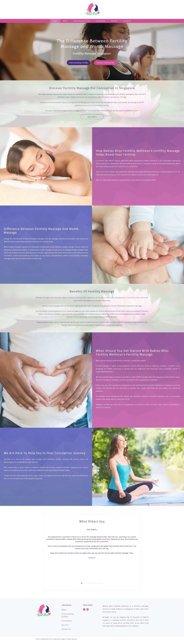 Web Page Writing Service Sample - BabiesBliss - Home Page Full - 131219