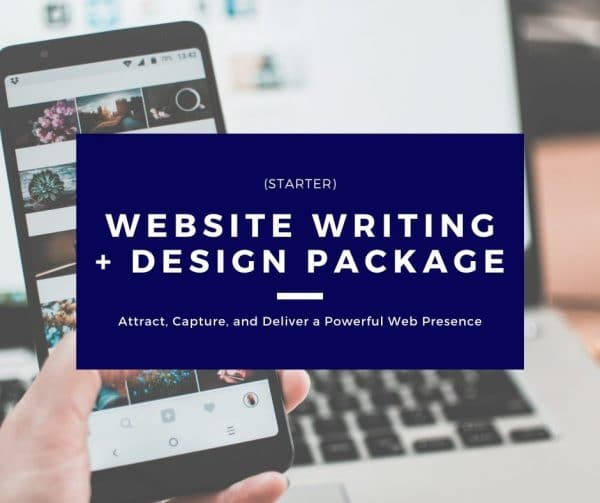 Website Writing + Design Package - Starter