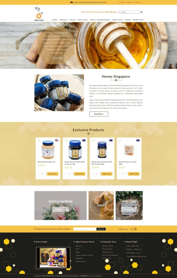 Website Writing Package - S&N Honey House - Home Page Full - 131219