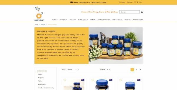 Website Writing Package - S&N Honey House - Manuka Honey Page Overview - 131219