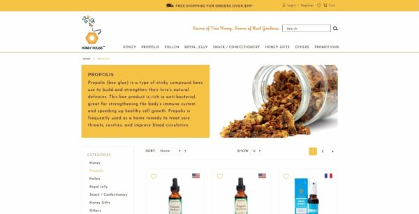 Website Writing Package - S&N Honey House - Propolis Page Overview - 131219