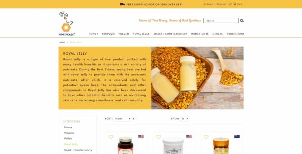 Website Writing Package - S&N Honey House - Royal Jelly Page Overview - 131219