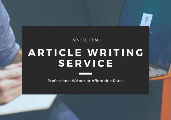 Article Writing Service - Single Item