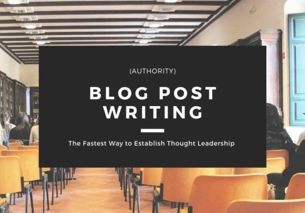 Blog Post Writing - Authority